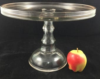 Antique EAPG Cake Stand Country Store Display Bakery dessert pedestal plate wedding Birthday cake glass vintage Victorian cookie tray