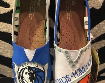 Blinged Out Dallas Mavericks Toms
