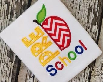 Preschool Shirt - Apple Back To School Shirt - Boys Preschool Shirt