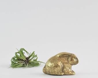 Vintage Brass Bunny Rabbit Figurine - Easter Holiday Decoration