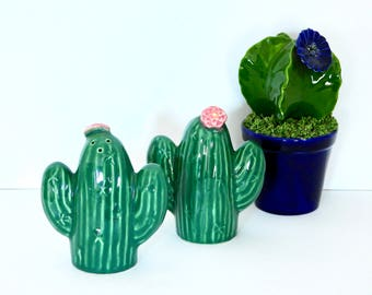 Treasure Craft Cactus Salt and Pepper Shakers