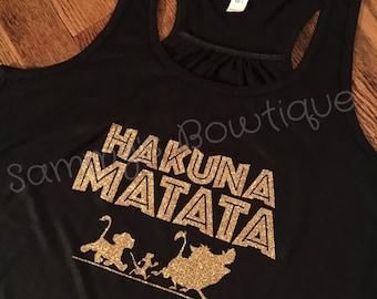 Hakuna Matata Women's Tank Top! Womens, Disney Tank, Flowy Racerback Tank, Disney shirt, family disney shirts, Lion King, Animal Kingdom