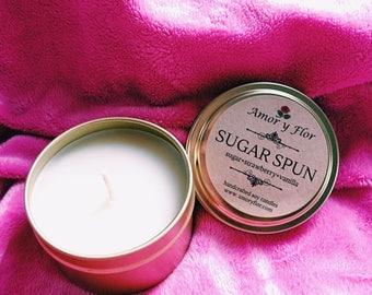 Sugar Spun Soy Candle - Gold Tin 6oz