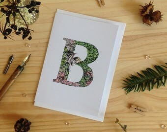 Forest Alphabet B Card - Initial Card
