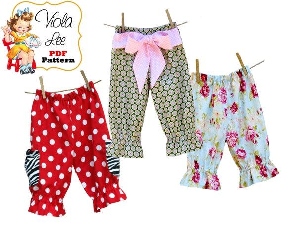 Girls Clothing Pattern Capris Pattern Girls Sewing Pattern