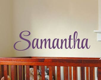 Nursery Name Decal Baby Girl Nursery Name Decal Girl Name Wall Decal Girls Name Decal Bedroom Wall Decor Nursery Decoration Personalized