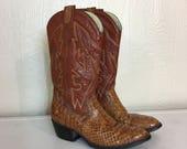 Vintage Cowboy Boots Pyth...