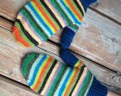 PRE ORDER: Self Striping Fingering Weight Sock Yarn, Wool and Nylon, 10 Color Stripe, Hand Dyed, Humming Bird