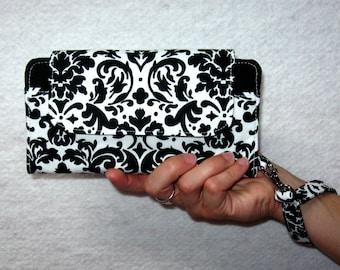 Clutch Wallet-Wallet Purse-Womens Clutch Wallet-Wallet Clutch iPhone 6 Wallet Case with Wristlet-Cell Phone Wallet-Wristlet-Smart Phone Case