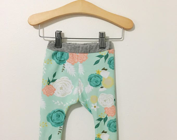 Pastel Flowers Baby and Toddler Pants