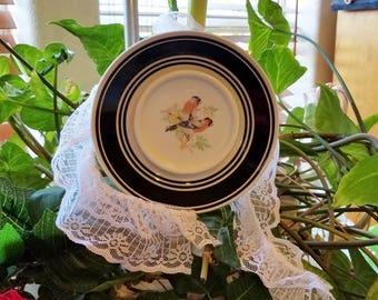 LOLLIPOP DECOR small  Ceramic plates with  short pole garden or houseplant decor.