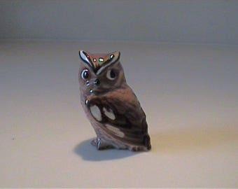 Vintage 1951 Hagen Renaker miniature detailed mama owl