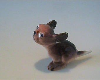 Vintage 1950's Hagen Renaker miniature running puppy dog