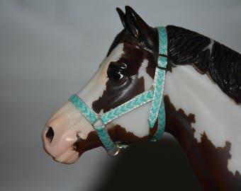 Breyer traditional blue and white chevron halter