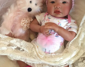 From the Biracial Shyann Kit  Reborn Baby Doll 19 inch Baby Girl Valerie Complete Baby Doll