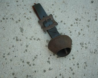 COW BELL , Old Primitive Rusty Bell, European Decor, Farmhouse, Door Bell, Swiss, Country Decor, Primitive