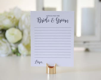 Advice for the Bride and Groom / Weddings / Chic / 12 sheets
