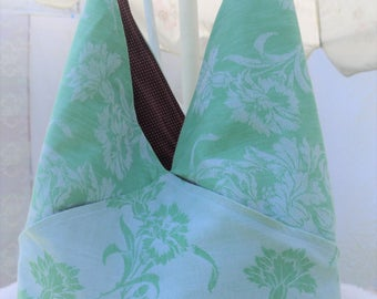 Hobo Purse, Hobo Bag, UPcycled Vintage Tablecloth Purse, Shoulder Purse, Cloth Purse, Bag, Medium Purse, Medium Bag, Tote, Market Tote Bag