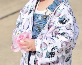 Knit Jacket, Knit Cardigan, Toddler Cardigan, Heart Cardigan, Owl Cardigan, Open Cardigan, Girls Cardigan, Toddler Clothing