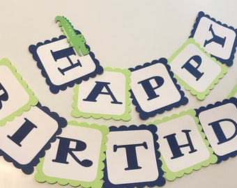 Alligator Birthday Banner, Alligator Party