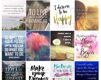 Quotes, #4-2, Planner Stickers, Motivation, Inspiration, Life, Love, Home, Full Box, Horizontal, ECLP, Plum Paper Planner