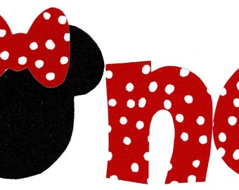 Minnie Mouse iron on one applique DIY