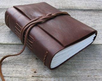 """Leather journal,  """"There is nothing like a dream to create the future"""" / Les Miserables / Victor Hugo quote / 320 pages / rustic journal"""