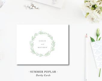 Summer Poplar Foldover Stationery