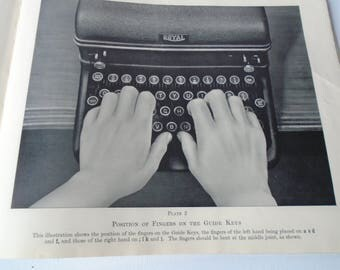 Vintage Pitman's Business Typewriting Manual - Office 1940