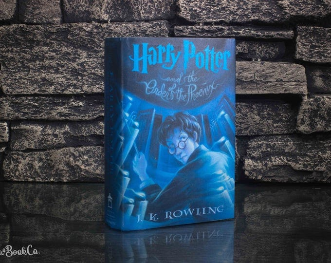 Hollow Book Safe - Harry Potter and The Order of the Phoenix (Book 5) - Blue