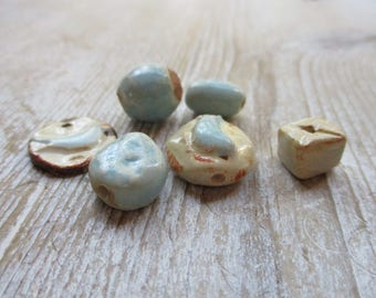 Ceramic Beads Pottery Beads  Pink Orchid