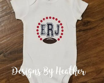 Personalized Football Onsie with Initials