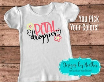 Flower Girl Shirt - Petal Dropper Shirt - Wedding Party