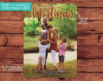 Printable Christmas Card - Merry Christmas