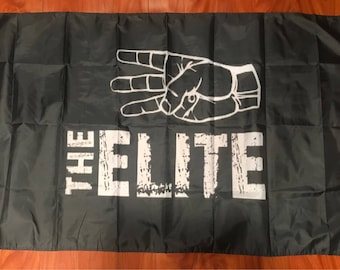 The Elite Wrestling 3'x5' black flag - NJPW, WCW, ROH, wwe usa Seller shipper