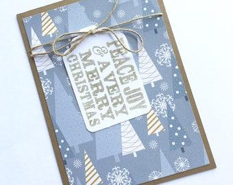 Peace, Joy, & A Very Merry Christmas Card