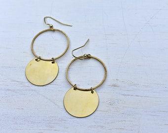 Double Circle Brass Hoops // Brass //