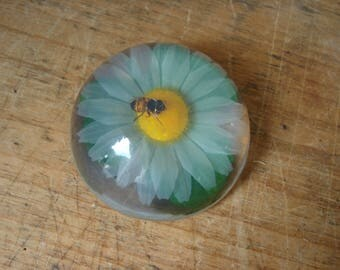 Vintage Paperweight/Bumblebee Paperweight/Flower Paperweight/Daisy Paperweight