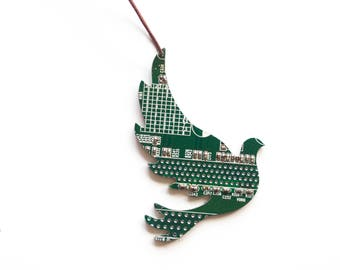 Dove bird Christmas ornament - Holiday decor - geeky Christmas