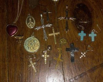 Destash of Christian/Catholic Themed Items for Jewelry Crafting