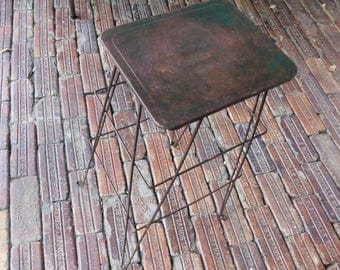 Vintage Tall Green MidCentury Plant Stand Wire Legs Plant Table Retro Plant Stand