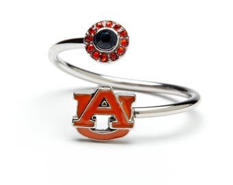 Auburn University Tigers Ring - Adjustable | Stainless Steel Auburn Jewelry | Auburn Tigers Gifts | Officially Licensed by Auburn University