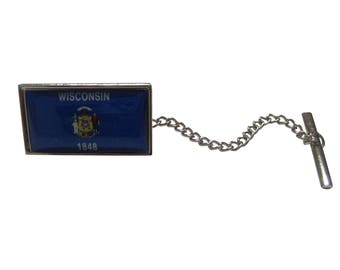 Wisconsin State Flag Tie Tack