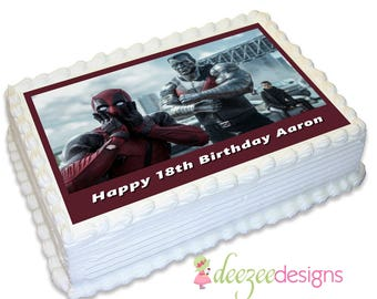 Deadpool A4 Edible Icing Cake Topper - EI169A4