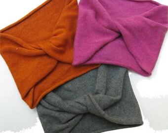Cashmere silk Turban Headband Headwrap