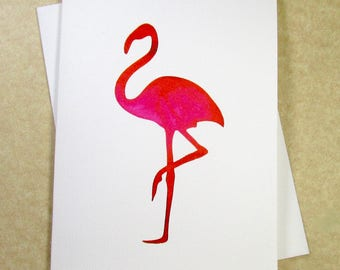 Flamingo Note Cards, Blank Flamingo Note Card Set, Flamingo Greeting Cards, Note Cards with Flamingo, Blank Note Cards, Set of Cards