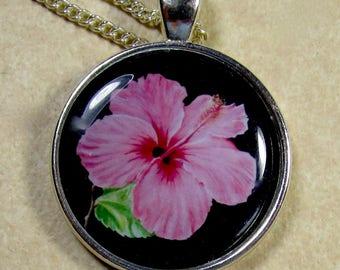 Hibiscus Pendant, Hibiscus Necklace, Hibiscus Jewelry, Hibiscus Gifts, Hibiscus Lover Gifts, Hibiscus Bridal, Hibiscus Wedding Jewelry