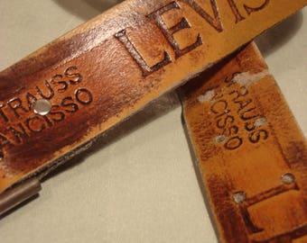Vintage 1990s Strauss Ancisso Levis Belt