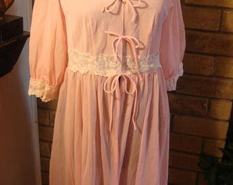 RESERVED Angie Vintage Gown or Cover up Robe