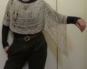 cotton and silk summer poncho - Size S/M